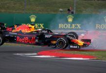 Max Verstappen being spun by Sebastian Vettel, British GP, F1