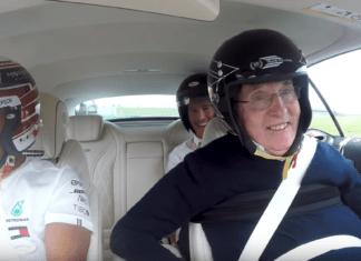 Frank Williams with Lewis Hamilton