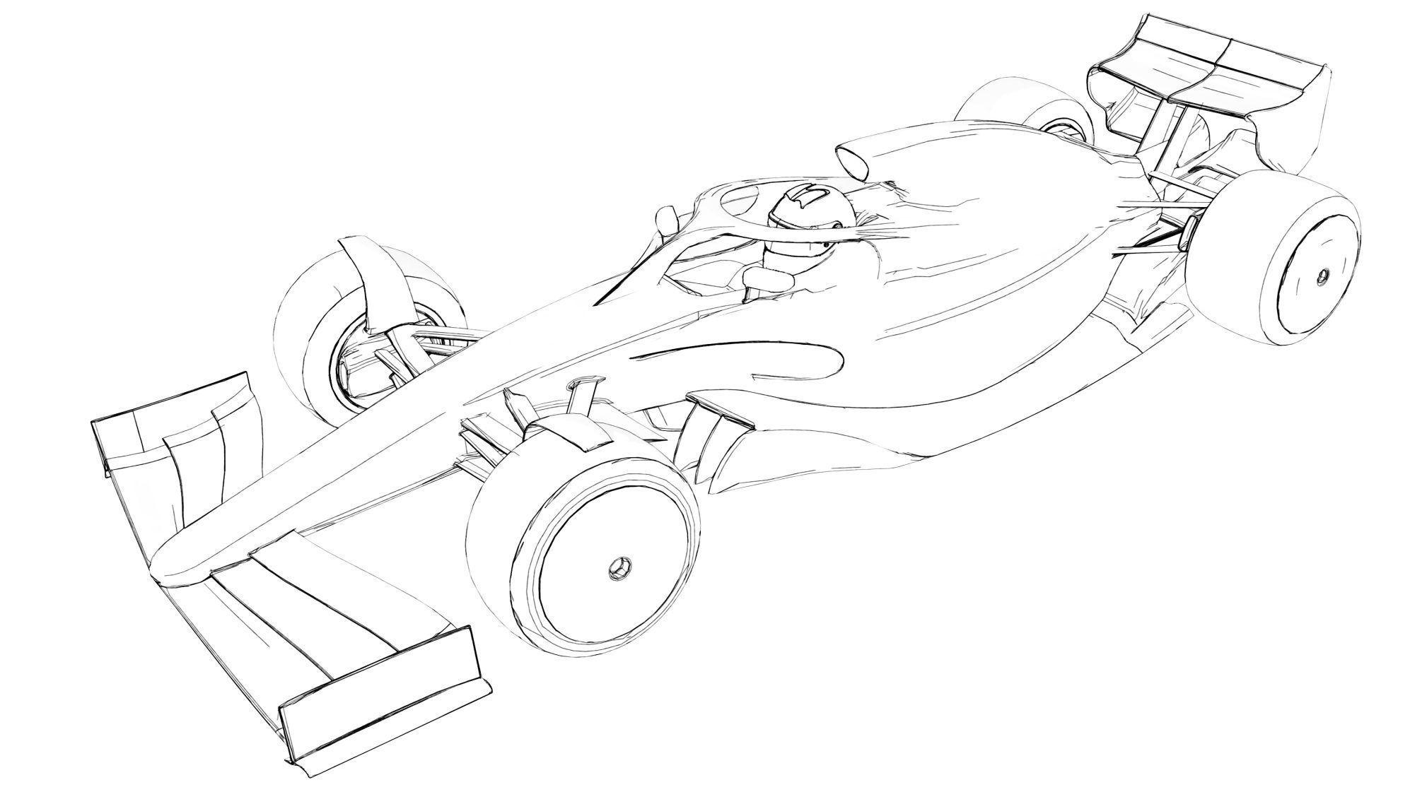 F1 2021 drawing
