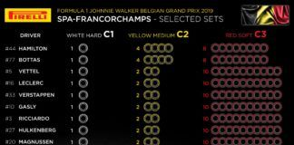 Belgium GP, F1, Pirelli