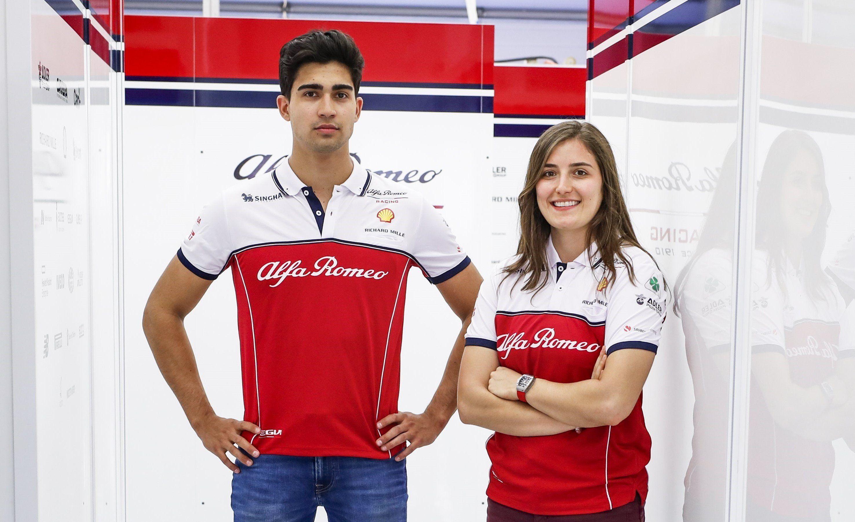 Juan Manuel Correa, Tatiana Calderon, F1