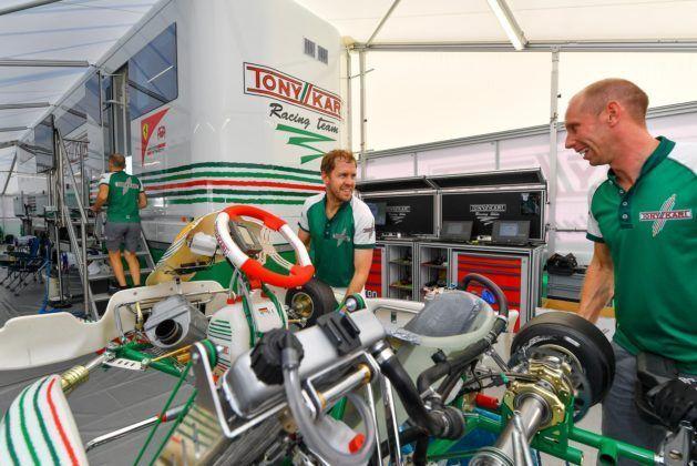 Sebastian Vettel, Ferrari, Tony Kart