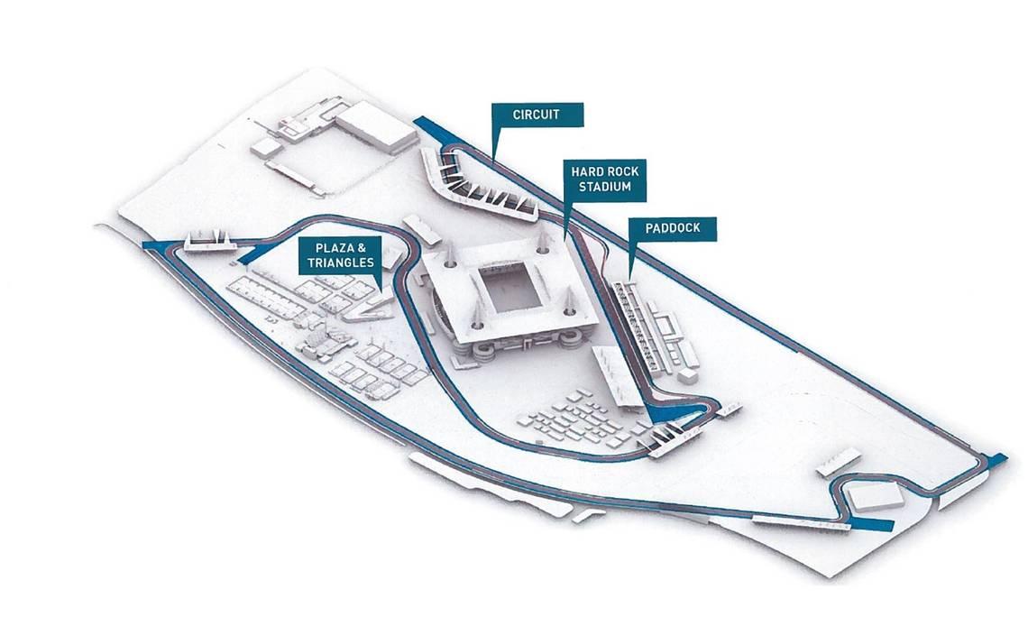 Miami GP F1 track, Copyright: Miami Herald