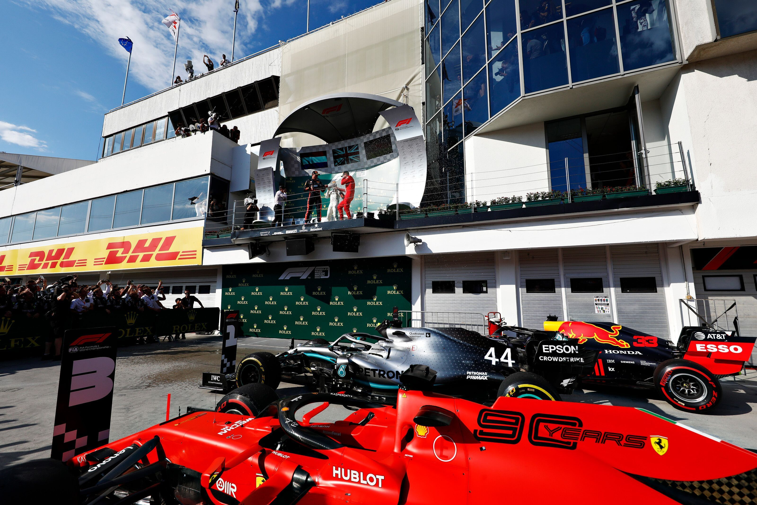 Max Verstappen, Sebastian Vettel, Lewis Hamilton