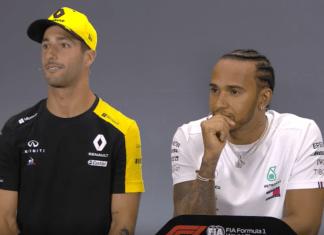 Damiel Ricciardo, Lewis Hamilton
