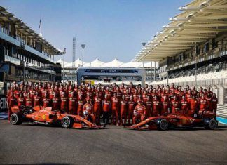 El equipo Ferrari en 2020