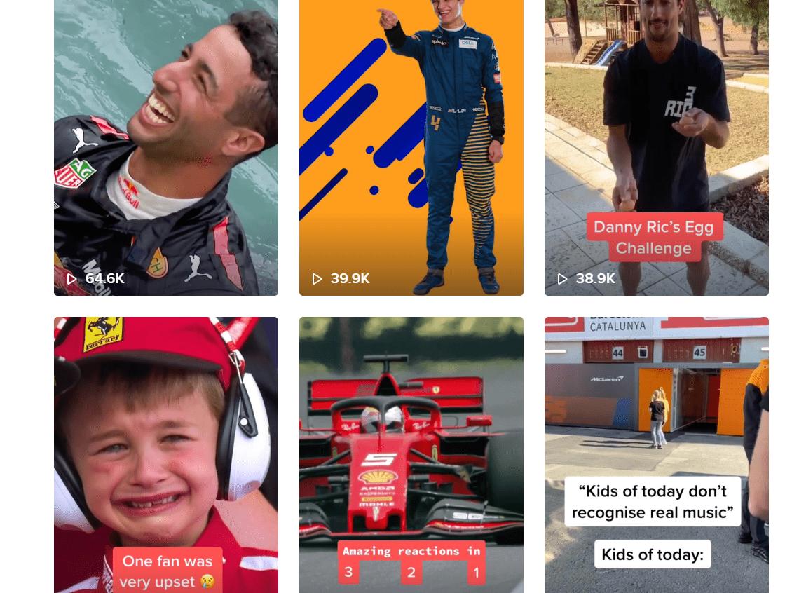 F1, Tik Tok