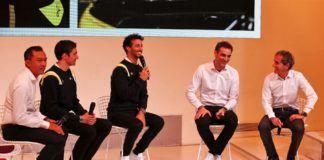 Cyril Abiteboul, Daniel Ricciardo, Esteban Ocon