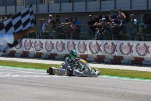Simo Puhakka takes the win in Adria Karting Raceway