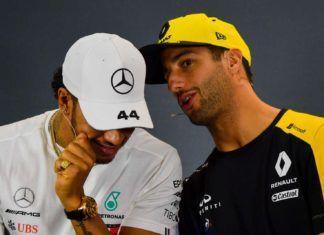 Daniel Ricciardo, Lewis Hamilton
