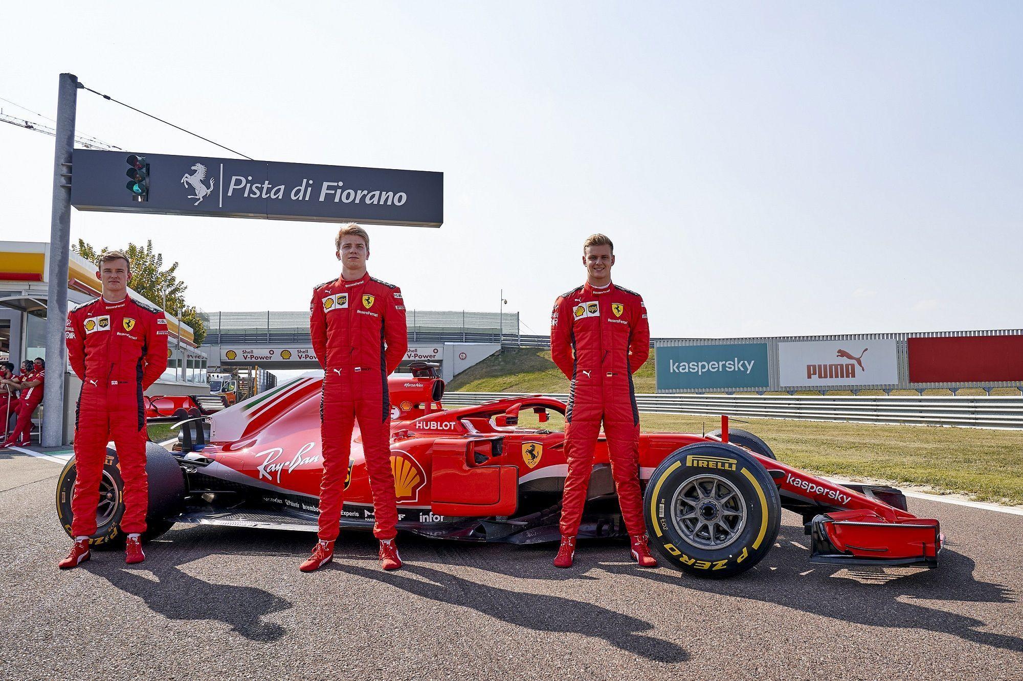 Mick Schumacher, Callum Ilott, Robert Shwartzman, F1, Ferrari