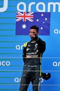 Ricciardo en el pódium