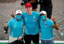 Toto Wolff, Valtteri Bottas, Lewis Hamilton