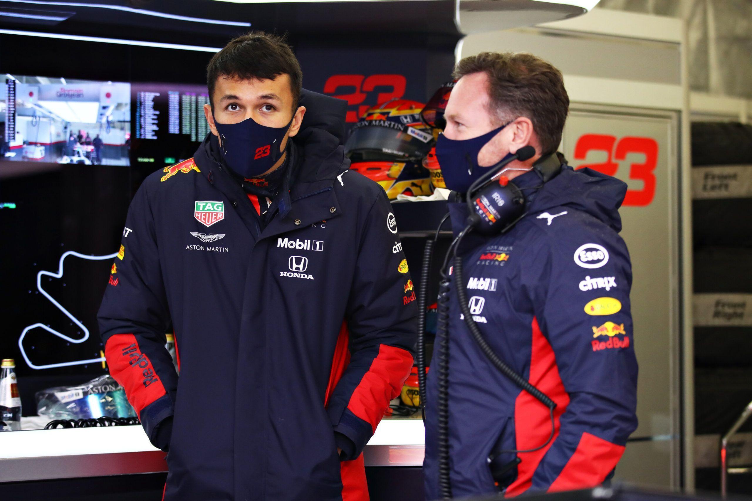 Alexander Albon, Christian Horner, Red Bull, Honda