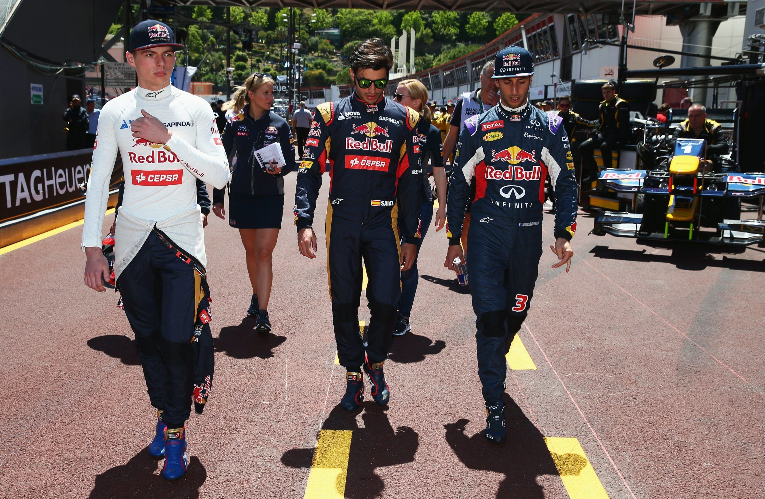 Max Verstappen, Carlos Sainz, Daniel Ricciardo
