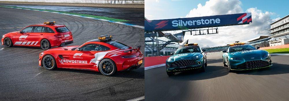 Mercedes, Aston Martin, F1