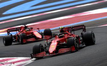 Carlos Sainz, Charles Leclerc, Mattia Binotto, Ferrari