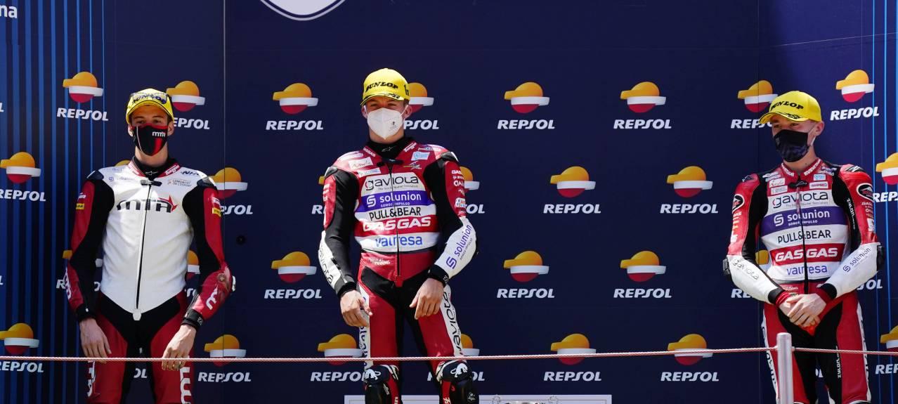 Dani Holgado gana en Barelona en el Junior de Moto3 del FIM CEV Repsol