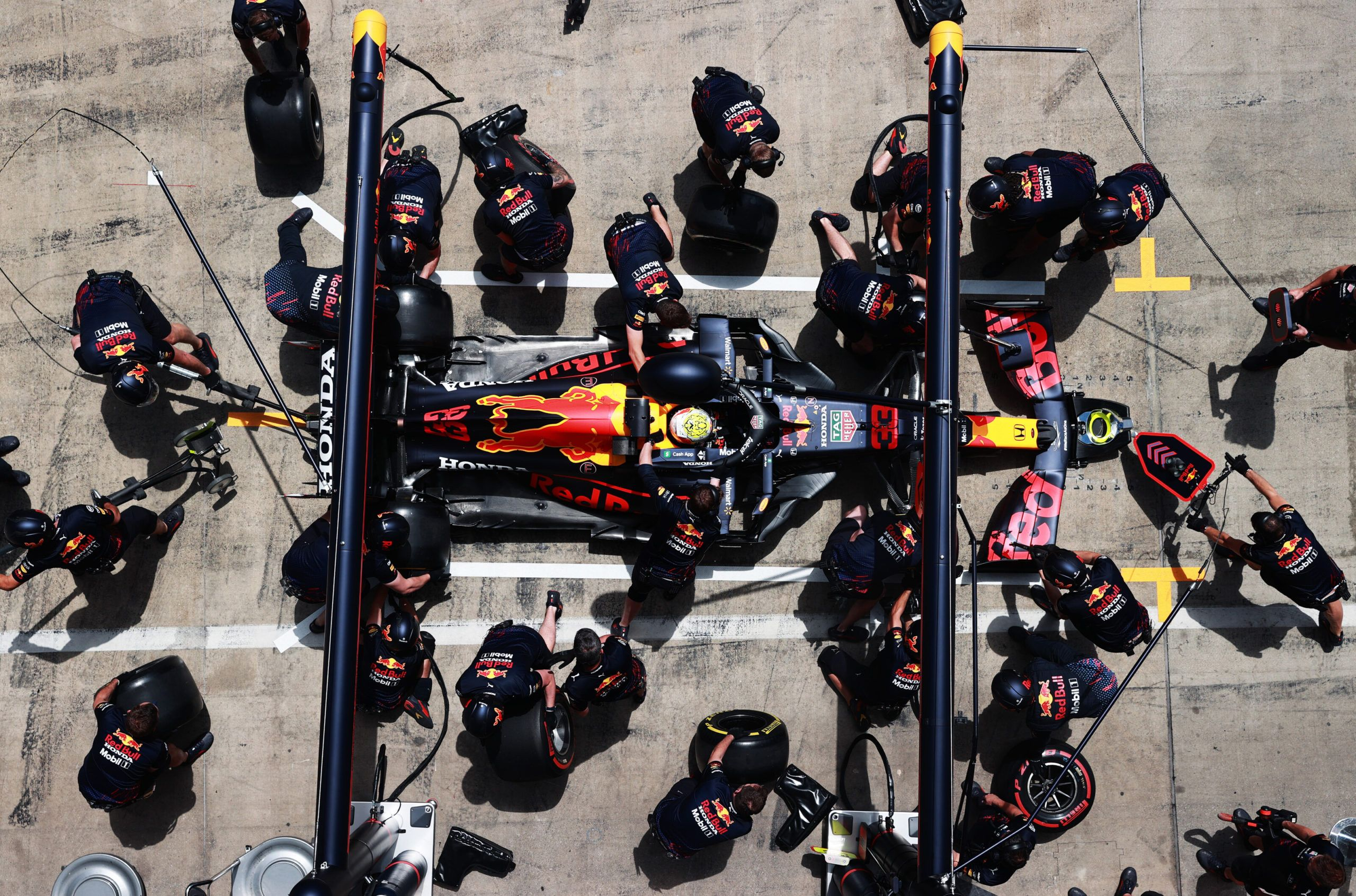 Christian Horner, Toto Wolff, F1, Pit Stop