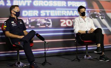 Toto Wolff, Christian Horner, Michael Masi, F1