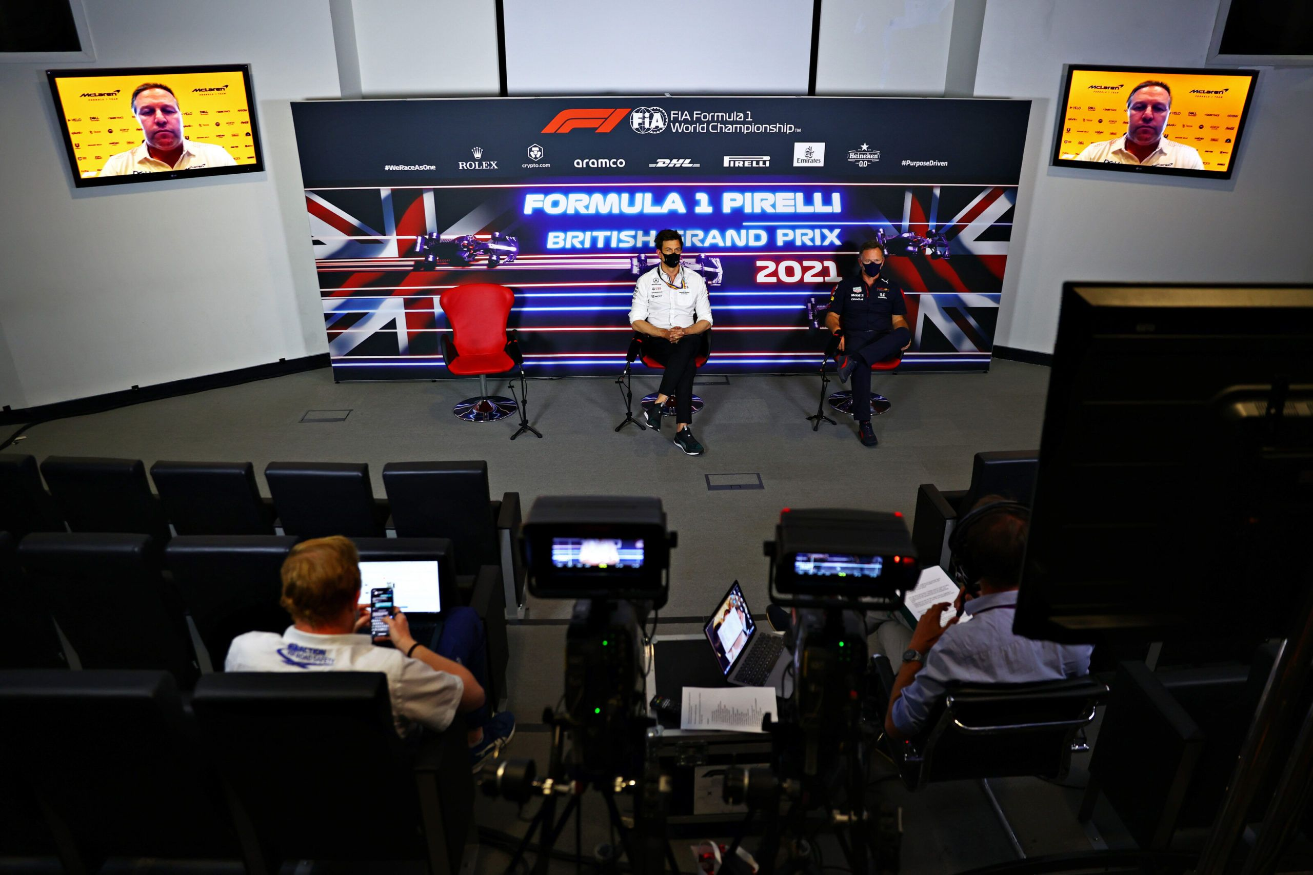Toto Wolff, F1, Christian Horner, Zak Brown