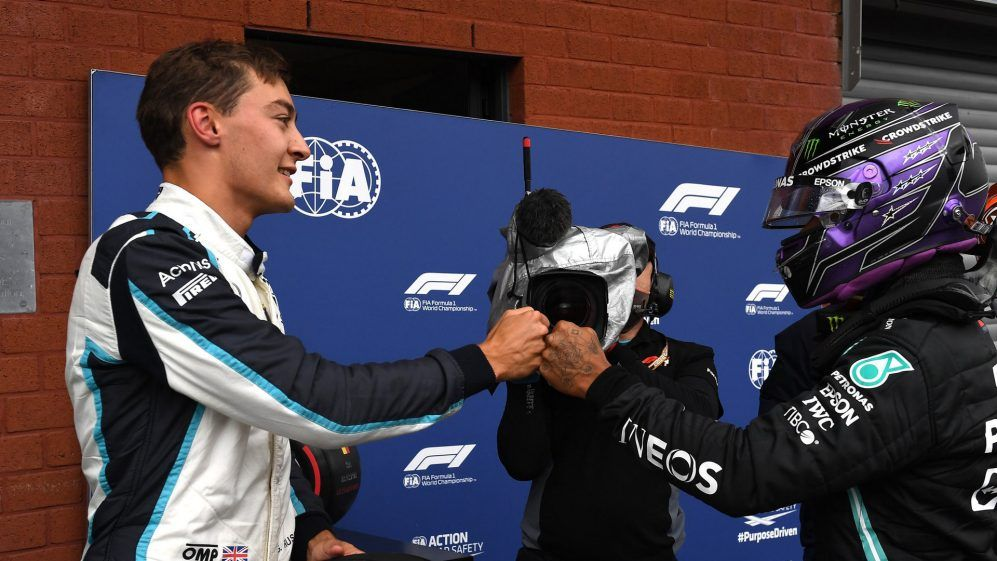 Toto Wolff, George Russell, Lewis Hamilton, F1