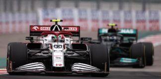 Antonio Giovinazzi, F1, Alfa Romeo. Kimi Raikkonen